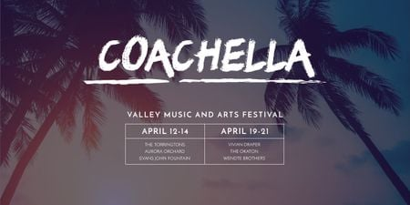 Coachella Valley Music and Arts Festival Image Tasarım Şablonu