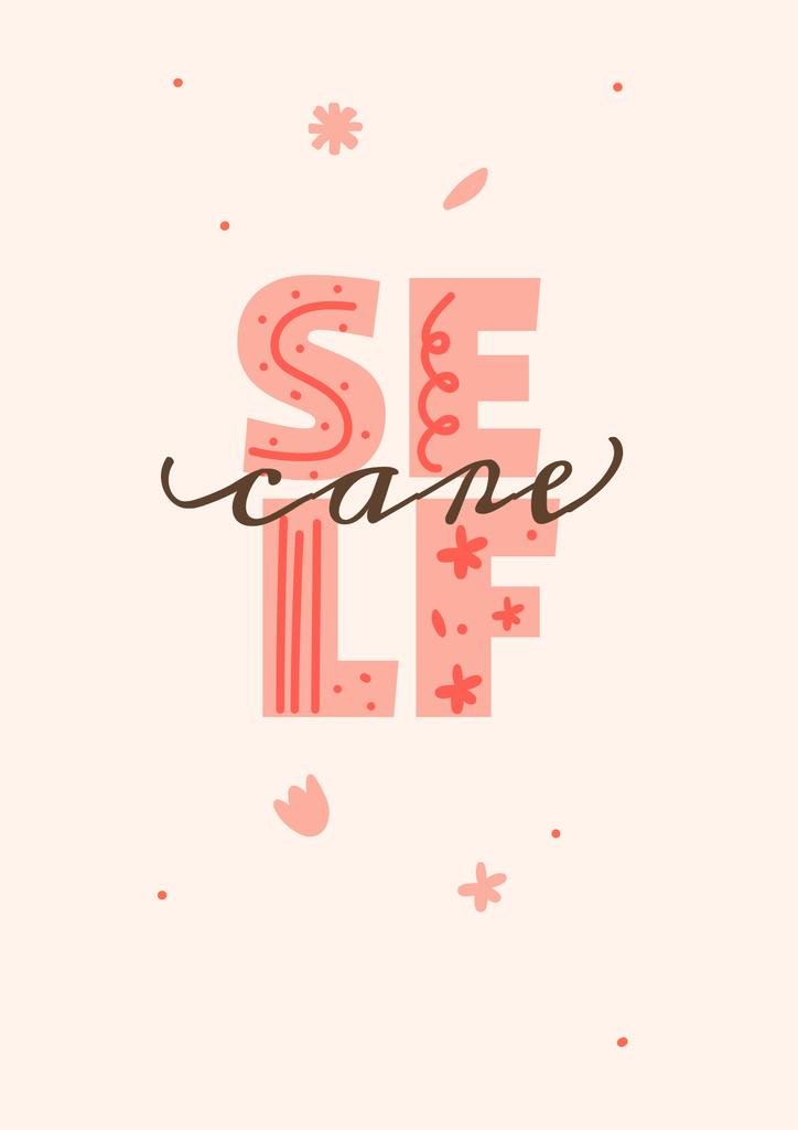 Mental Health Care Inspiration Poster – шаблон для дизайну