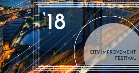 Ontwerpsjabloon van Facebook AD van City improvement Festival announcement