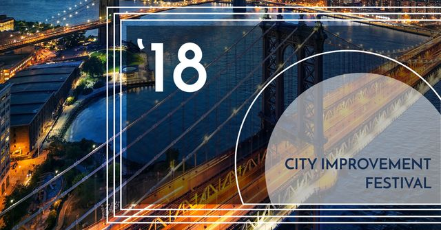 City improvement Festival announcement Facebook AD Tasarım Şablonu