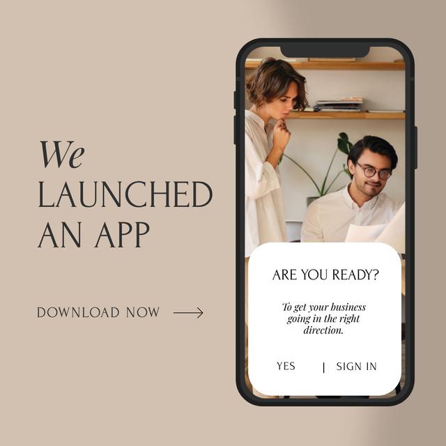 Business Team Launching App Instagram AD – шаблон для дизайну