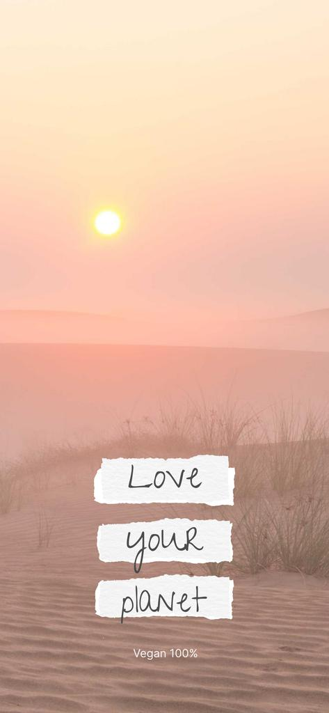 Eco Concept with Sun in Desert Snapchat Moment Filter – шаблон для дизайну