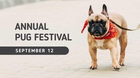 Ontwerpsjabloon van FB event cover van French Bulldog on street