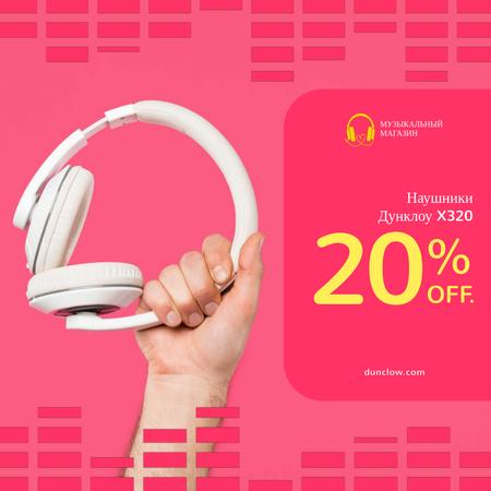 Special Sale with Man holding headphones Animated Post – шаблон для дизайна