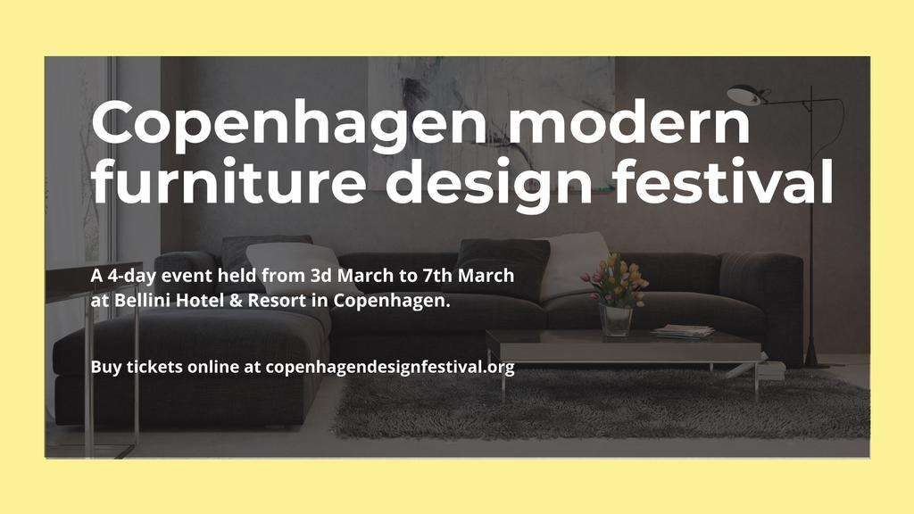 Modern furniture design festival — Créer un visuel
