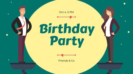 Ontwerpsjabloon van FB event cover van Birthday Party Announcement with Businesspeople