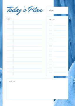 Day Plan in blue color