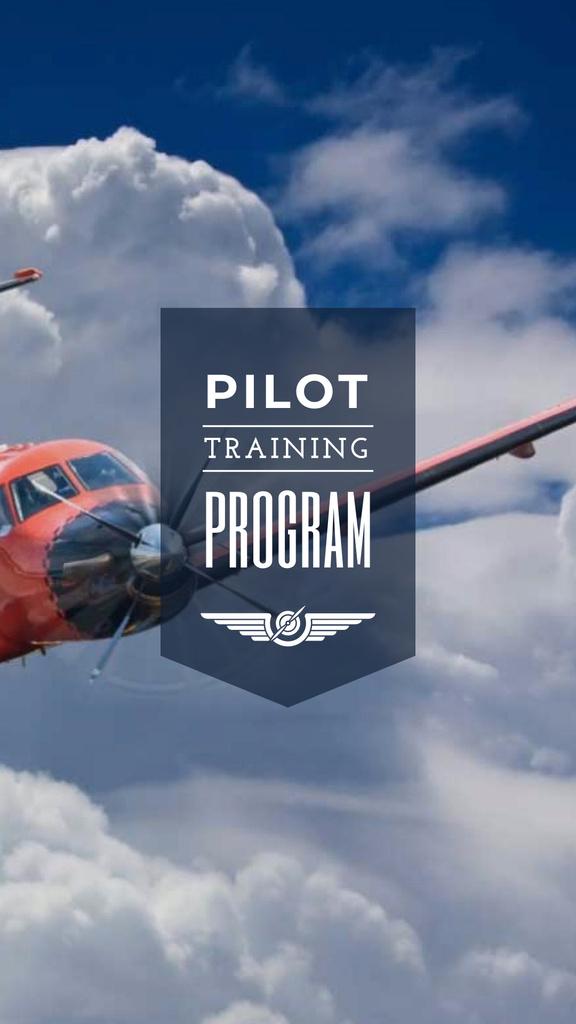Plane flying in blue sky for Pilot Training Instagram Story Modelo de Design