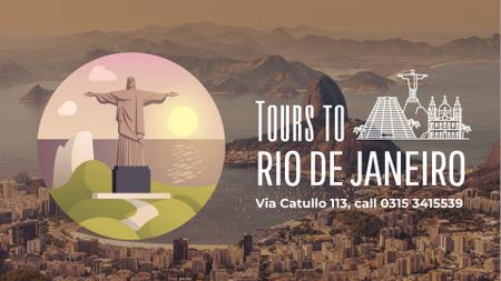 Tour Invitation with Rio Dew Janeiro Travelling Spots Full HD videoデザインテンプレート