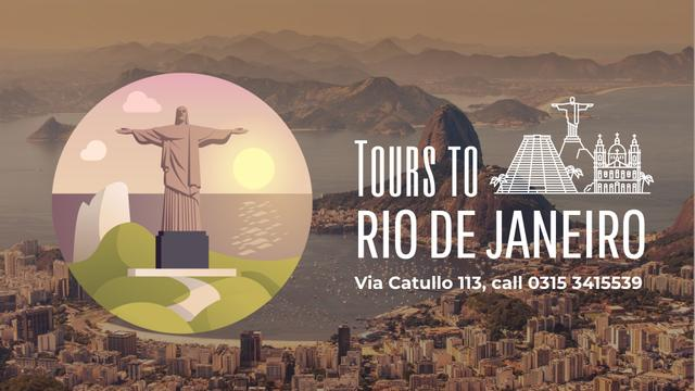 Tour Invitation with Rio Dew Janeiro Travelling Spots Full HD video Modelo de Design