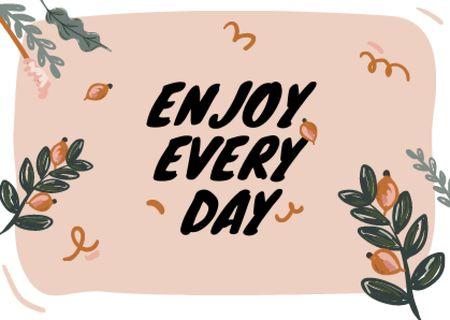 enjoy every day Card – шаблон для дизайну
