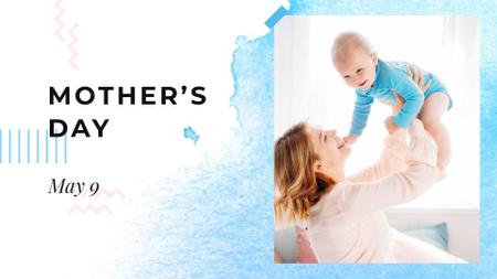 Plantilla de diseño de Mother's Day Announcement with Mom holding Baby FB event cover