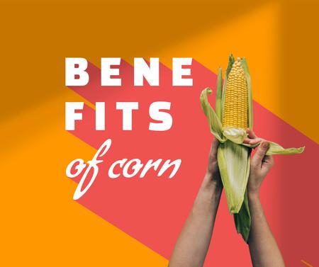 Plantilla de diseño de Fresh Corn in Hands Facebook