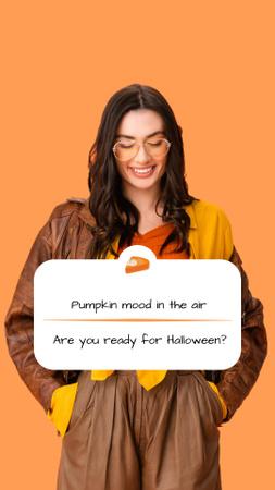 Halloween Inspiration with Stylish Woman Instagram Story – шаблон для дизайна
