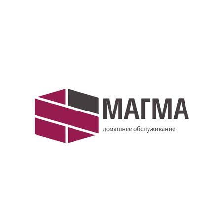 Home Maintenance Services Ad with Geometric Lines Icon Logo – шаблон для дизайна