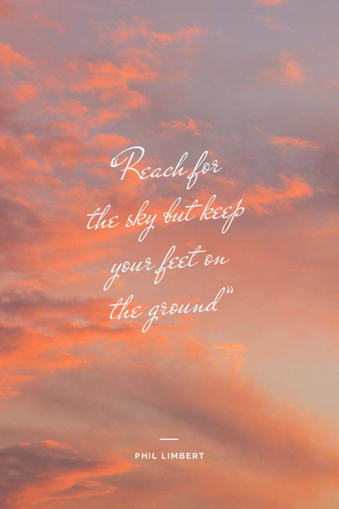 Inspirational Quote on sunset Sky — Modelo de projeto