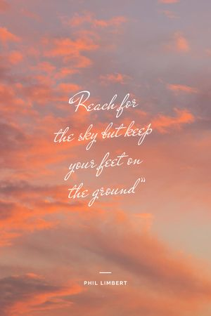 Inspirational Quote on sunset Sky Tumblrデザインテンプレート