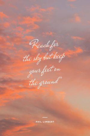 Inspirational Quote on sunset Sky Tumblr Modelo de Design