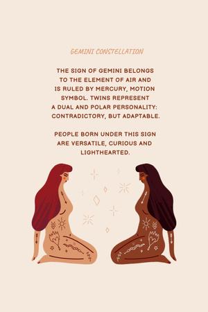 Plantilla de diseño de Astrological sign explanation with Two Women Pinterest