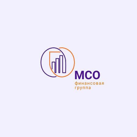 Financial Group Ad with Diagram Icon Animated Logo – шаблон для дизайна