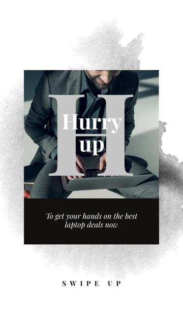 Plantilla de diseño de Laptops Sale Ad with Programmer Instagram Story