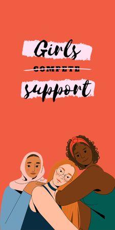 Plantilla de diseño de Girl Power Inspiration with Diverse Women Graphic
