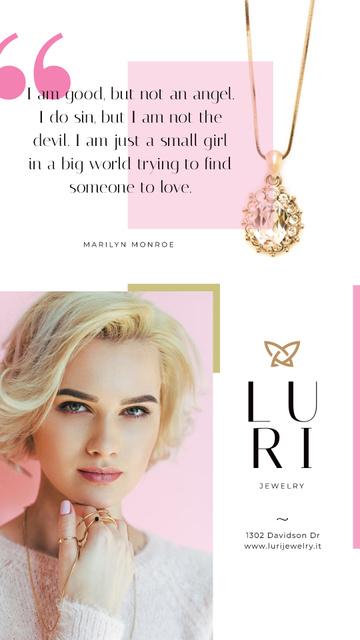 Jewelry Sale Woman in Golden Rings Instagram Story Tasarım Şablonu