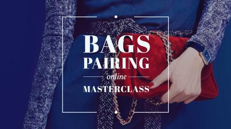 Modèle de visuel Fashion Masterclass Announcement with Stylish Bag - FB event cover