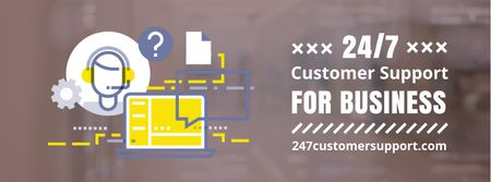Laptop business icon Facebook Video cover Design Template