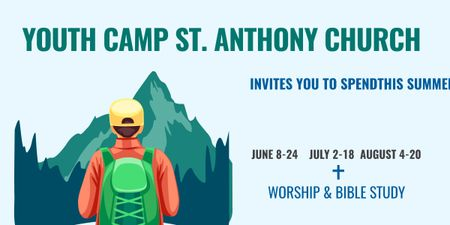 Plantilla de diseño de Youth religion camp of St. Anthony Church Image