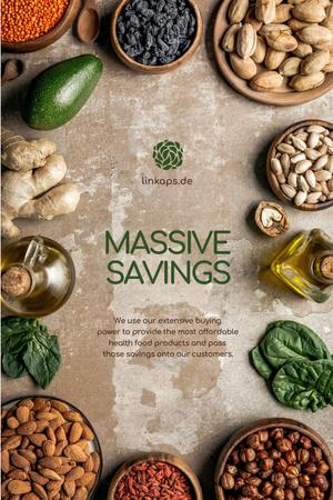 Natural Organic products and vegetables Offer Pinterest Modelo de Design