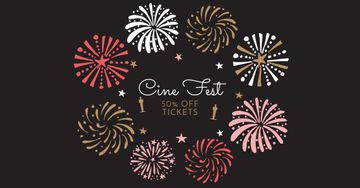 Cine Fest Announcement with Fireworks