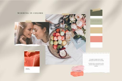 Tender Colors Palette For Wedding MoodBoard