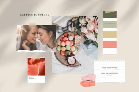Tender colors Palette for Wedding Mood Board – шаблон для дизайну