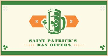 St. Patrick's Day Offer with Beer illustration