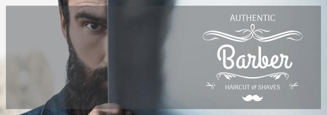 Szablon projektu Barbershop Ad Man with Beard and Mustache Tumblr