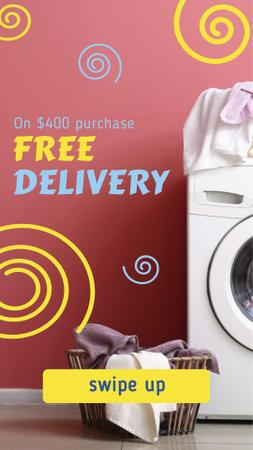 Washer Free Delivery Offer Instagram Story – шаблон для дизайну