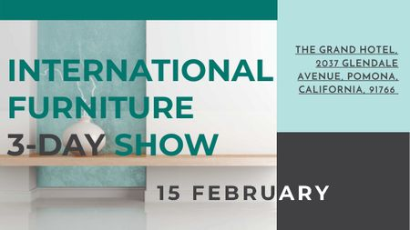 Furniture Show announcement Vase for home decor Title – шаблон для дизайну