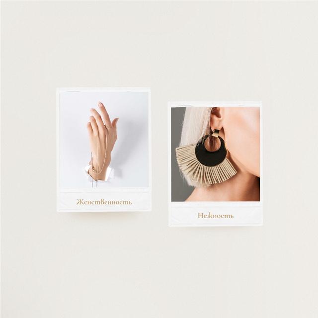 Jewelry Offer Woman in Stylish Accessories Instagram – шаблон для дизайна