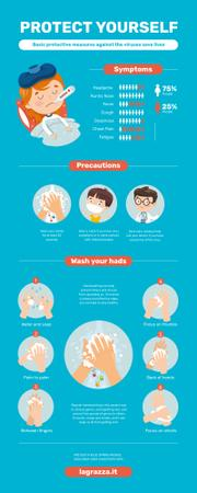 Informational infographics about Protection from Viruses Infographicデザインテンプレート