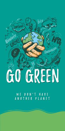 Plantilla de diseño de Eco lifestyle Concept with Planet in Hands Graphic