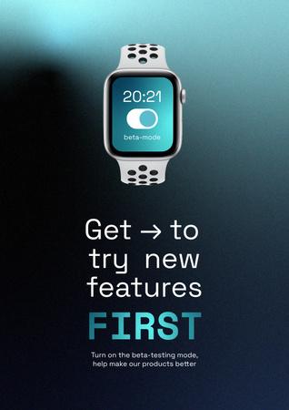 Modèle de visuel Smart Watches Startup Idea Ad - Poster