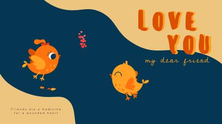 Template di design Two cute Birds in love on Valentine's day Full HD video
