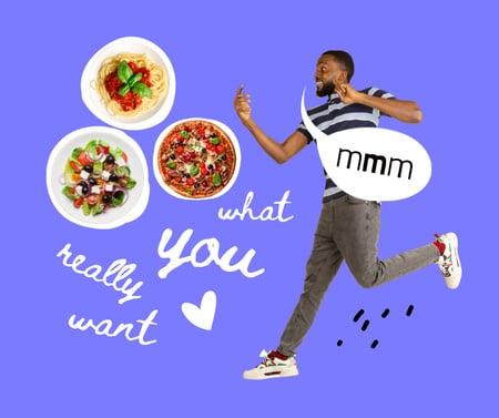 Modèle de visuel Funny Joke about Unhealthy Food - Facebook