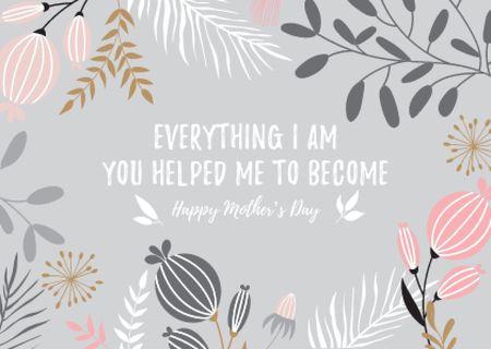 flowers Card Design Template