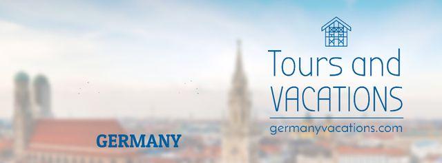 Designvorlage Germany famous travelling spots für Facebook Video cover