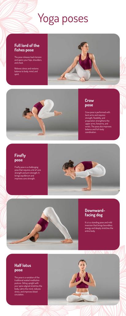 List infographics about Yoga Poses — Crear un diseño