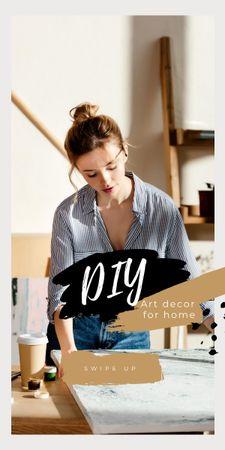 Ontwerpsjabloon van Graphic van Art Decor for Home with Girl Artist