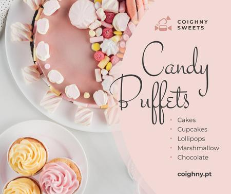 Template di design Bakery Promotion Sweet Pink Cake Facebook