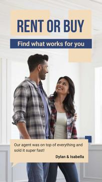 Real Estate Ad Couple in New Home